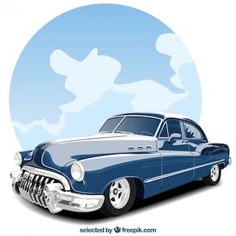 Vieille voiture bleue
