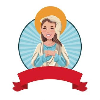 Vierge marie sac catholique