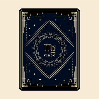 Vierge zodiac signe cartes horoscope constellation étoiles carte du zodiaque décorative avec cadre décoratif