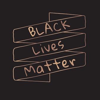 Les vies noires comptent bannière sociale
