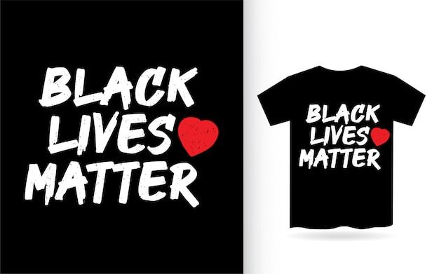 Les vies noires comptent la conception de lettrage pour t-shirt. je ne peux pas respirer