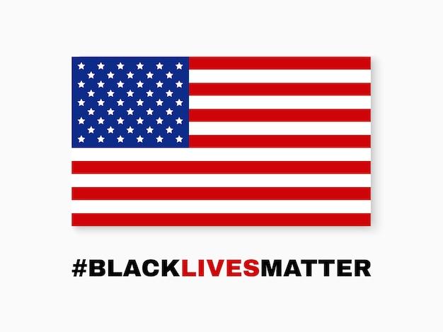 Les vies noires comptent. drapeau des etats unis.