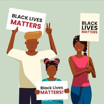 Les vies noires comptent illustration