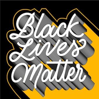 Les vies noires comptent le lettrage