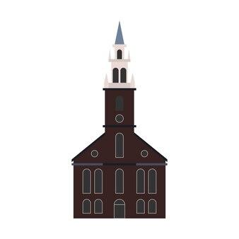 Vieux bâtiment de l'église vector