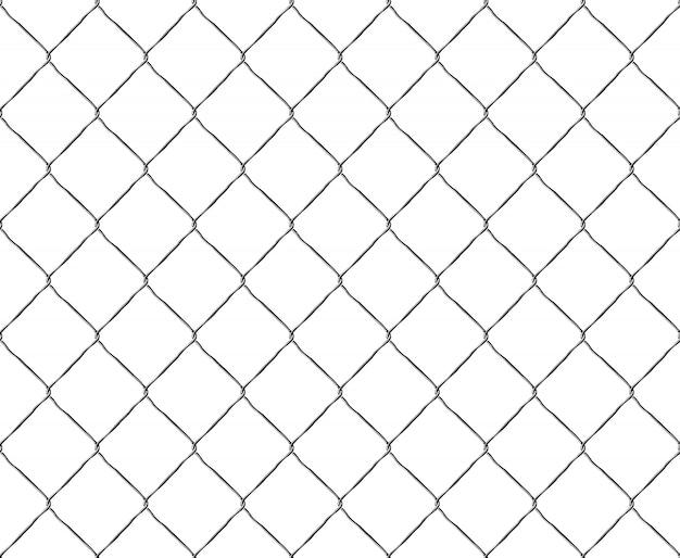 Vieux fond de clôture métallique en maille d'acier