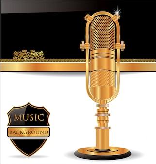 Vieux fond de microphone