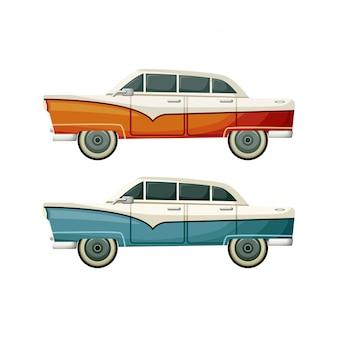 Vieux jouets vintage deux voitures
