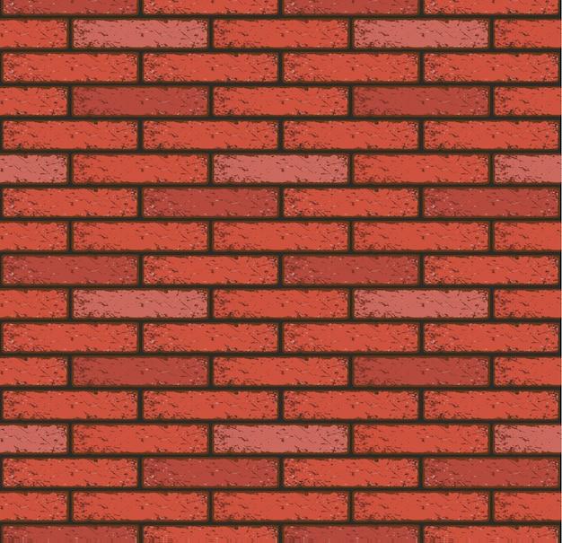 Vieux mur de modèle sans couture de brique rouge