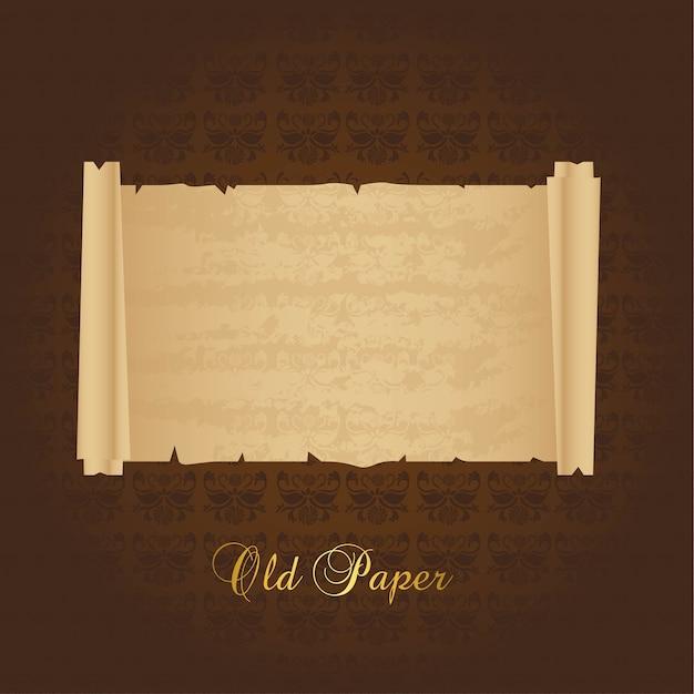 Vieux papier au cours de l'ornement fond illustration vectorielle