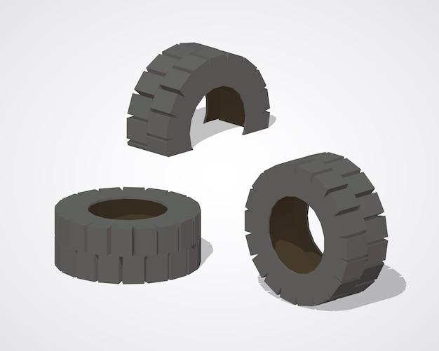 Vieux pneus en caoutchouc