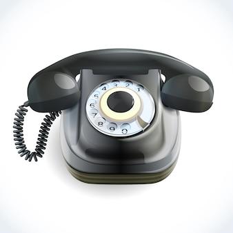 Vieux téléphone noir