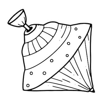 Vieux tourbillon de roue teetotal isolé sur fond blanc