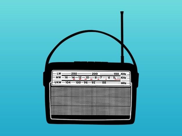Vieux vecteur de gadget de radio de musique