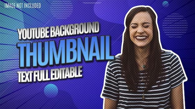 Vignette d'arrière-plan youtube avec modèle modifiable complet de texte