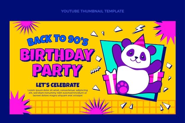 Vignette youtube 90sbirthday dessinée à la main