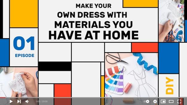 Vignette youtube artisanat géométrique plat