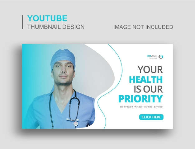 Vignette youtube et bannière web de soins médicaux
