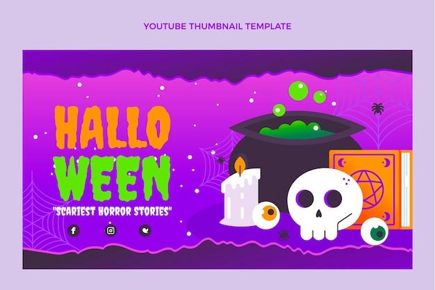 Vignette youtube dégradé halloween