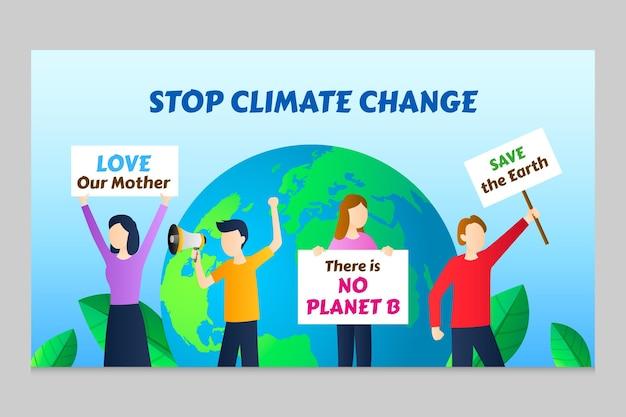Vignette youtube du changement climatique en dégradé