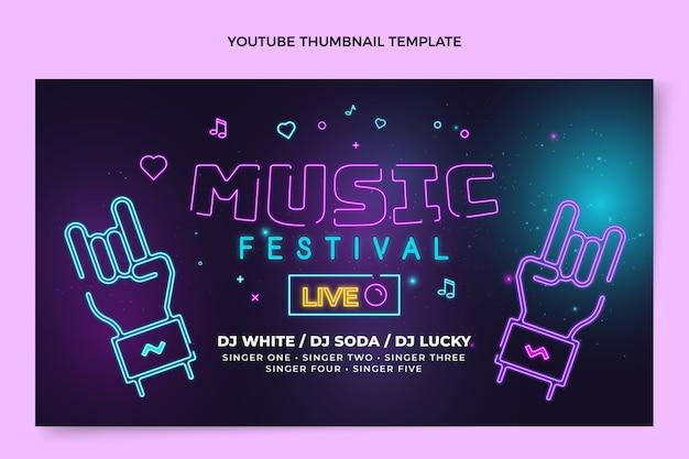 Vignette Youtube Du Festival De Musique Coloré Dégradé Vecteur gratuit
