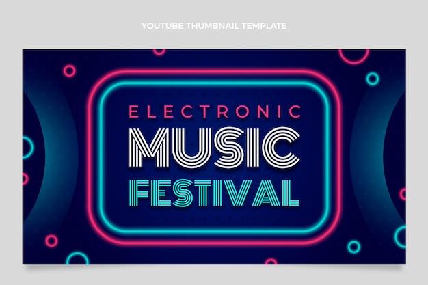 Vignette youtube du festival de musique dégradé