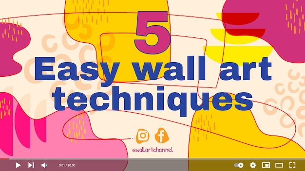 Vignette youtube de formes abstraites dessinées à la main