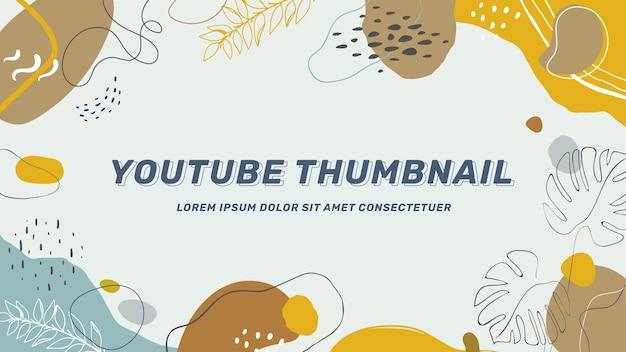 Vignette youtube de formes abstraites plates dessinées à la main