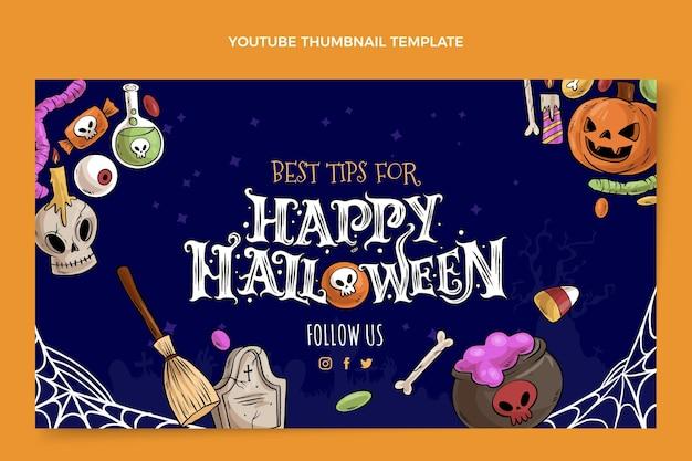 Vignette youtube halloween dessinée à la main