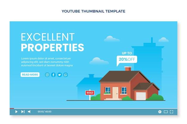 Vignette youtube de l'immobilier dégradé