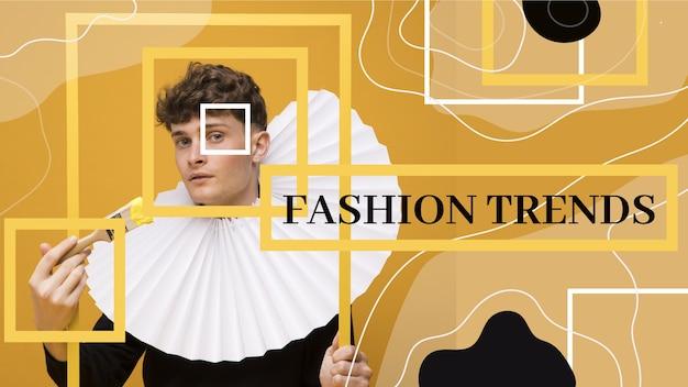 Vignette youtube de mode abstraite plate organique