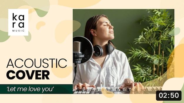 Vignette youtube de musique abstraite plate organique