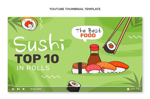 Vignette youtube de nourriture dessinée à la main