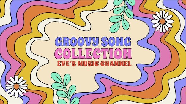 Vignette youtube psychédélique groovy dessinée à la main