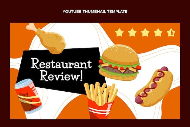 Vignette youtube de restauration rapide dessinée à la main