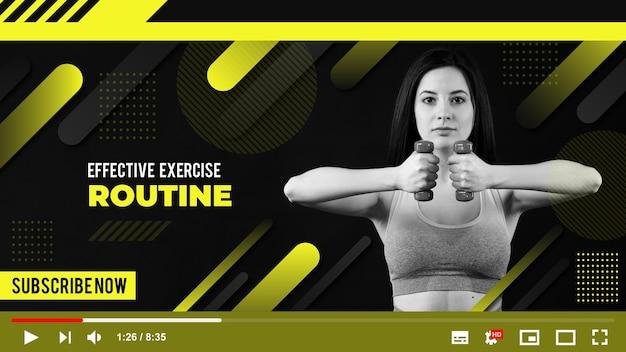 Vignette youtube sport géométrique dégradé