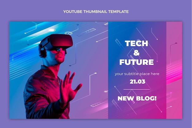 Vignette youtube de technologie de dégradé