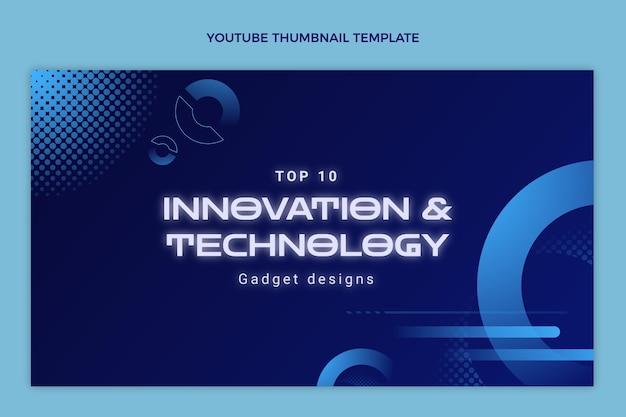 Vignette youtube de la technologie des demi-teintes dégradées