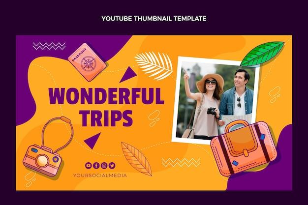 Vignette youtube de voyage dessiné à la main