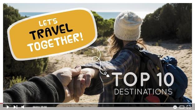 Vignette youtube de voyage
