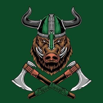 Viking hog warrior