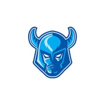 Viking warior head logo