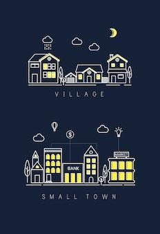 Village et petite ville