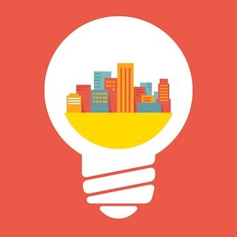 Une ville en ampoule