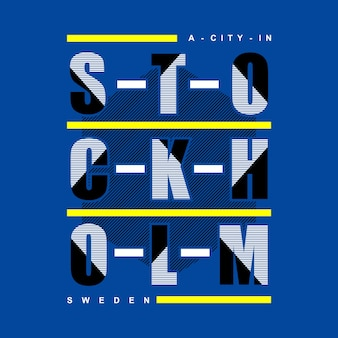 Une ville au danemark typographie t shirt design