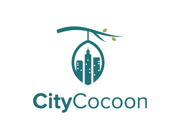 Ville et cocon conception de logo moderne géométrique créatif simple et élégant