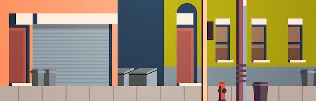 Ville construction maisons vue rue immobilier plat horizontal
