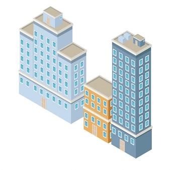 Ville isométrique 3d
