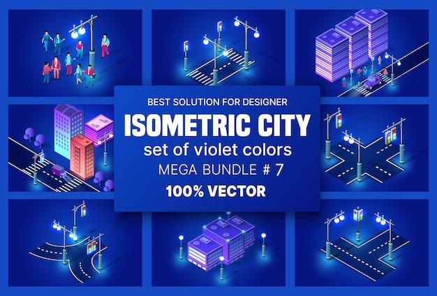 Ville isométrique ultraviolette