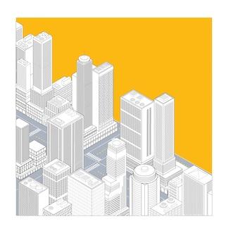 Ville jaune isométrique